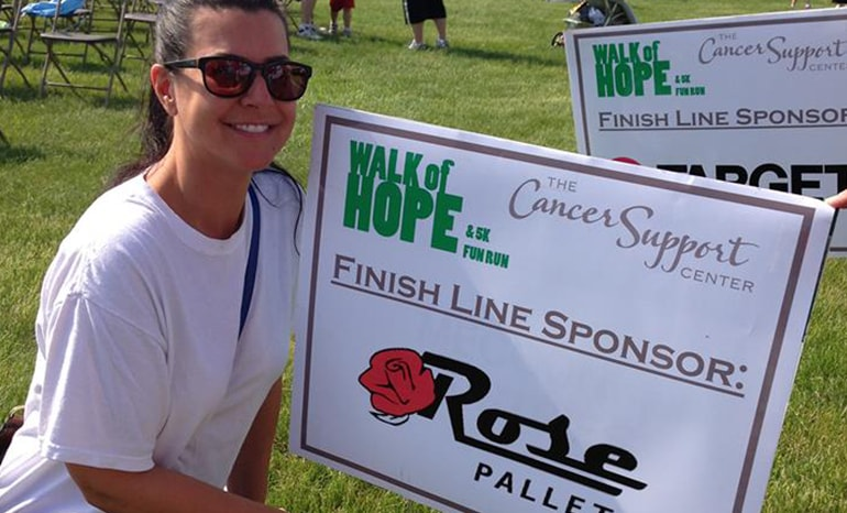 amy olson at walk of hope race