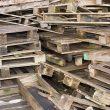 old broken pallets in a pile