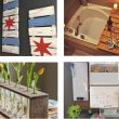 collage of different projects for mothers day using wooden pallets