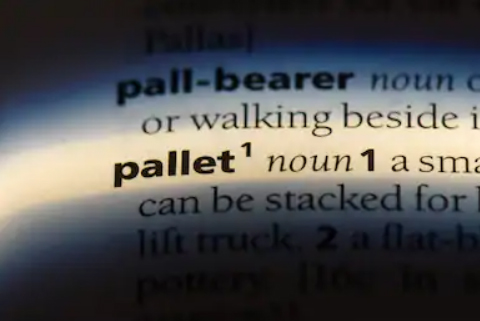 pallet definition in a dictionary