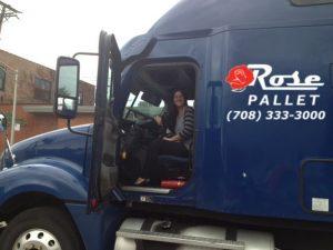 amy in rose pallet semi truck