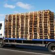 pallets on delivery truck